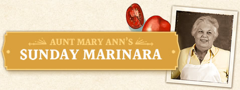 Aunt Mary Ann's Sunday Marinara